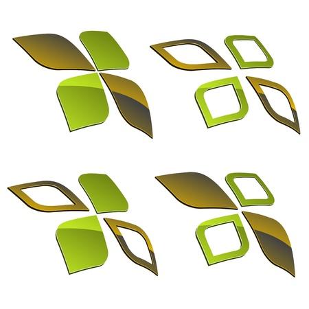 vector 3d shiny elements Stock Vector - 11486929