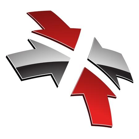 vector 3d shiny arrows Stock Vector - 11486317