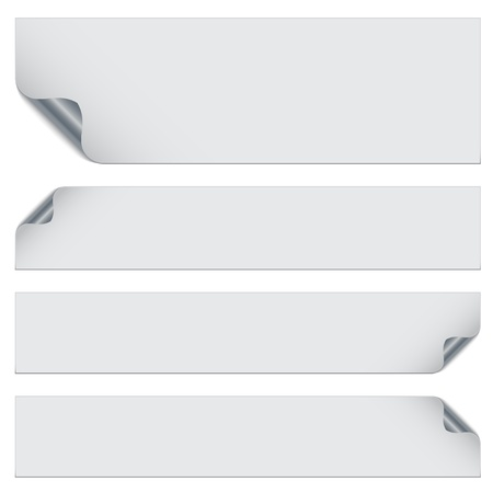 vector stickers with metallic backs Stock Vector - 11486700