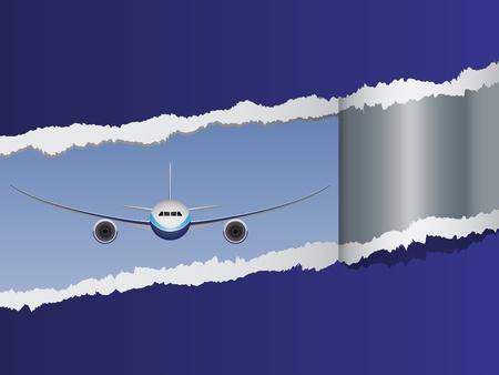 view from the plane: vector de vista en los aviones Vectores