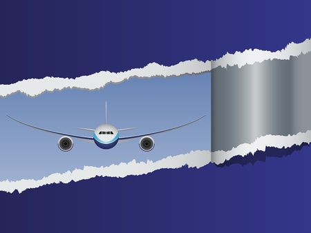 commercial airline: vector view on aircraft