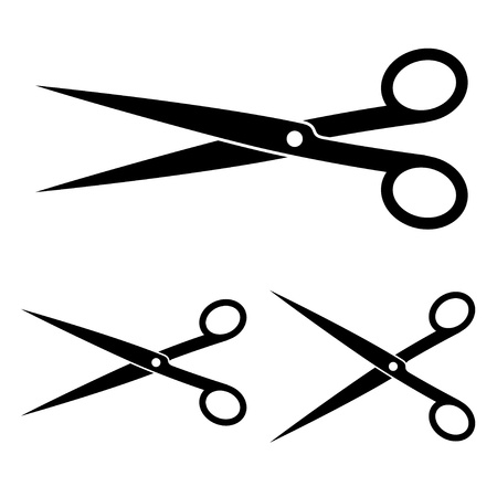 hair cut: vector scissors