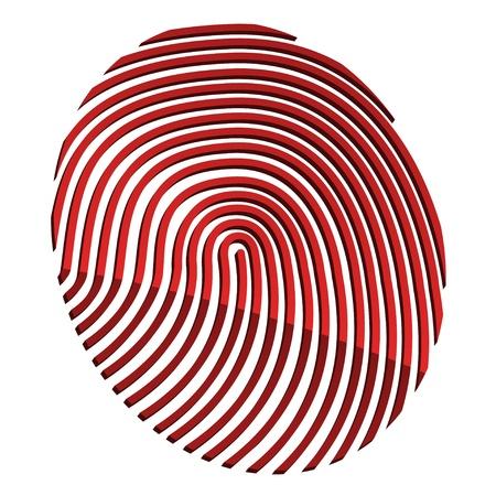 odcisk kciuka: wektor streszczenie 3d fingerprint