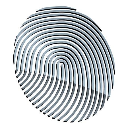 vector 3d abstract fingerprint Vector