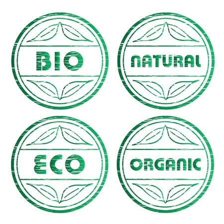 vector scratched eco stamps Vector