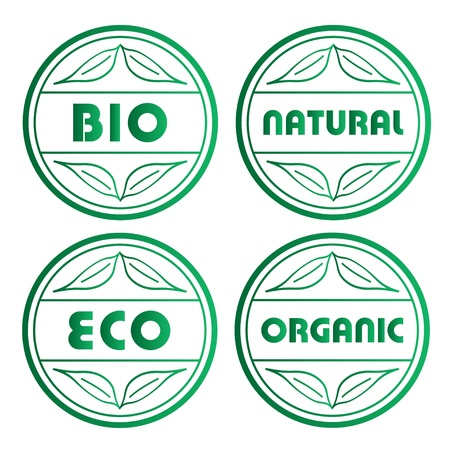 vector eco stamps Vector