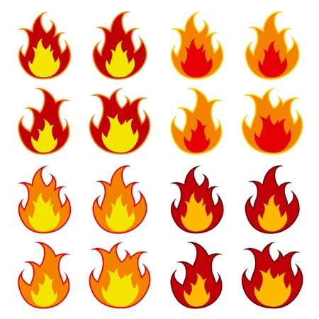 wildfire: vector fire flames Illustration