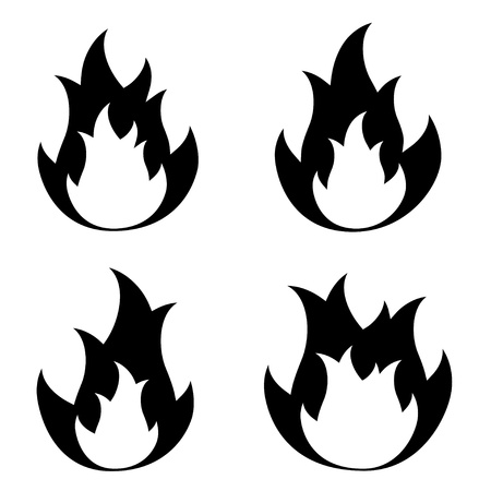 vector fire flame symbols Stock Vector - 11486282