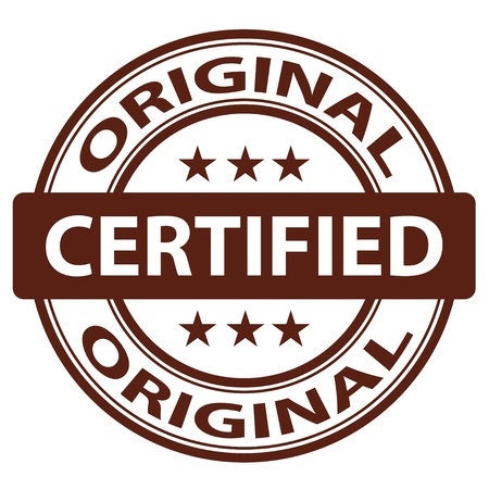 autorizacion: vector original sello de pura
