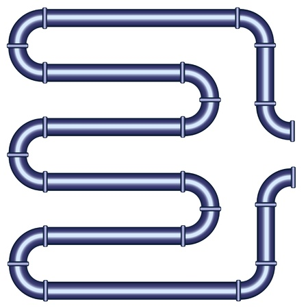 gas pipe: vector metallic pipe Illustration