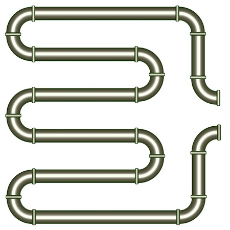 vector metallic pipe Vector