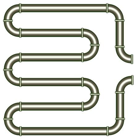 gas pipe: vector metallic pipe Illustration