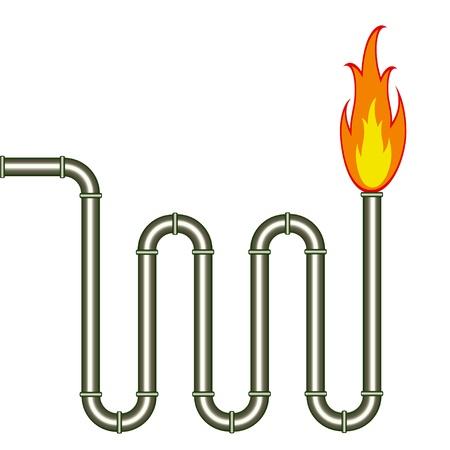 Vektor brennende Pfeife