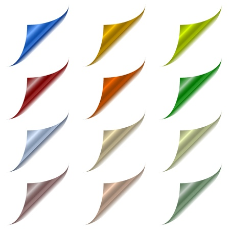 Vector page corners with metallic back Stock Vector - 11486866