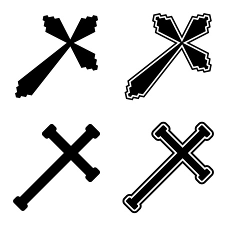 kruzifix: Vector christliche Kreuze Illustration