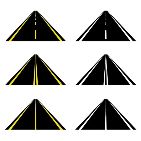 road marking: vector roads
