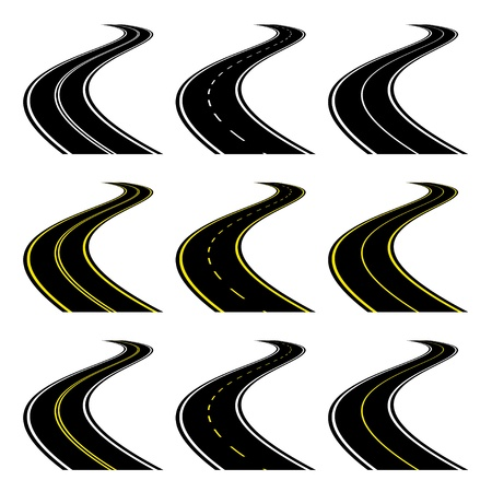 winding road: vector roads