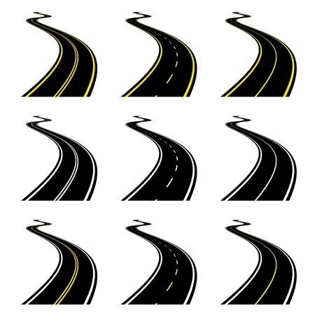 vector roads Stock Vector - 11504960