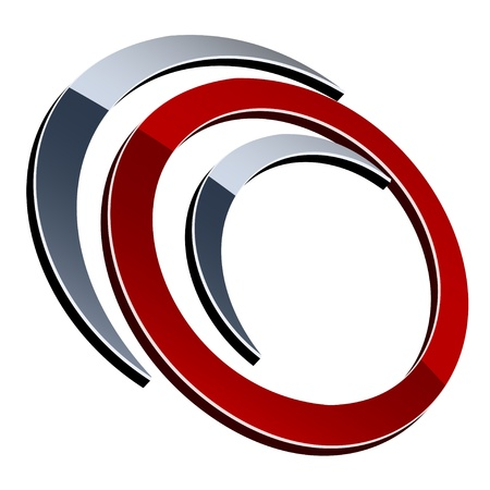 ellipses: vector 3d shiny element