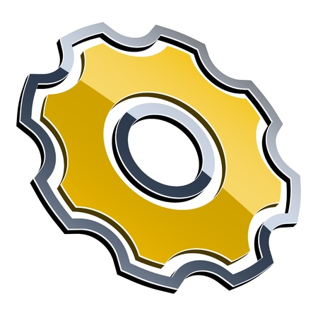 sprocket: vector 3d shiny sprocket