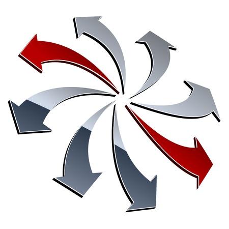 vector 3d shiny arrows Vector