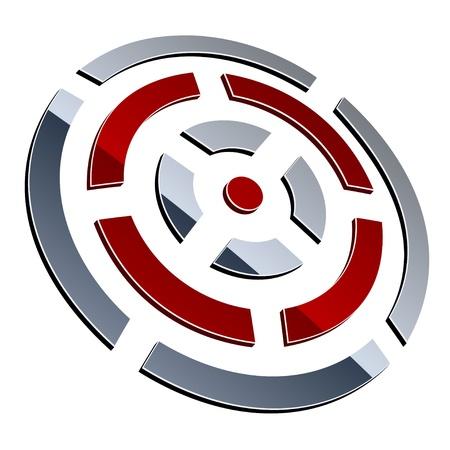 3d circle: vector 3d shiny element