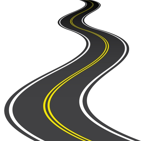 winding road: vector road