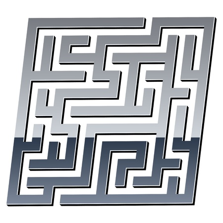 labyrinth: vector 3d shiny maze