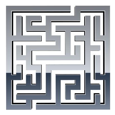 vector 3d shiny maze Vector