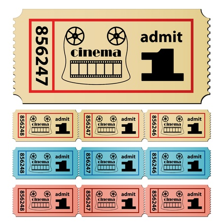 strips: vector cinema tickets