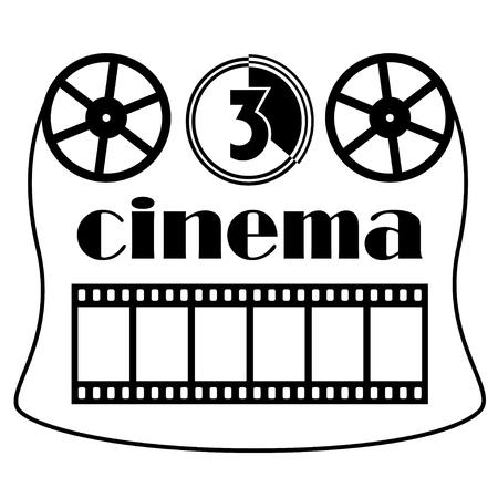 movie projector: vector cinema symbol Illustration