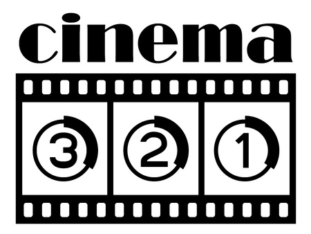 celluloid film: vector cinema symbol Illustration