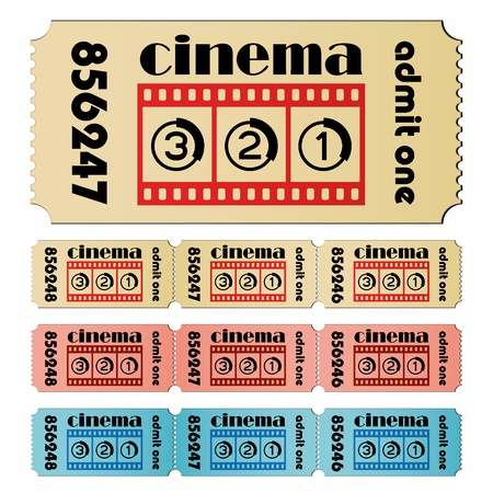 vector cinema tickets Stock Vector - 11504967