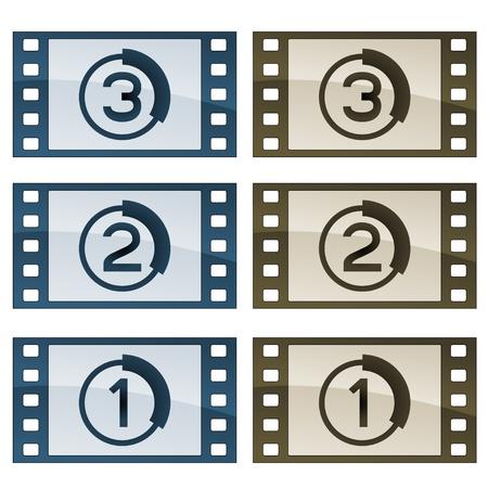 vector film strips Vector