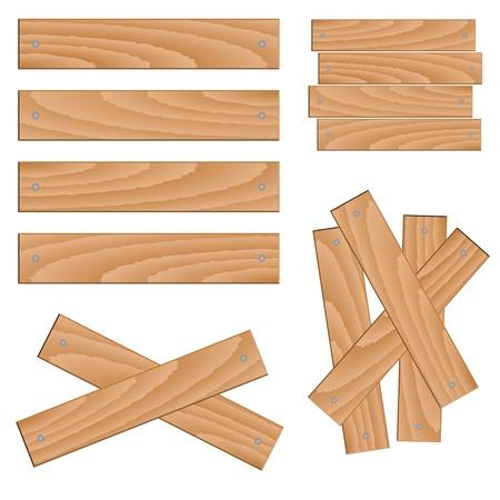 vector wooden elements Stock Vector - 11504798