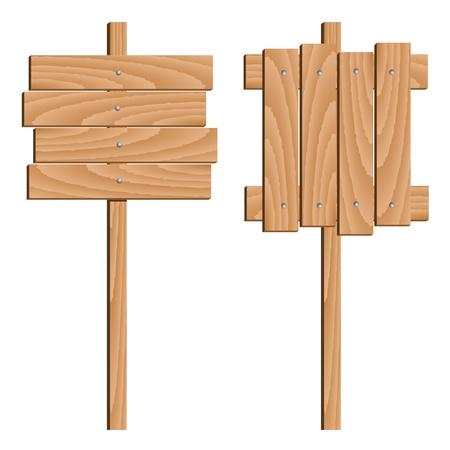 vector wooden signs Vector
