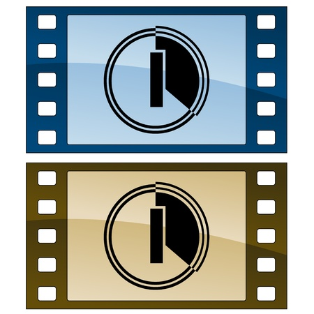 one color: vector film strips