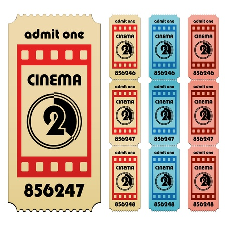 vector cinema tickets Vector
