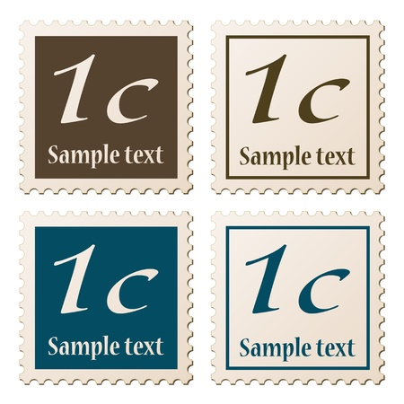 post stamp: vector postage stamps