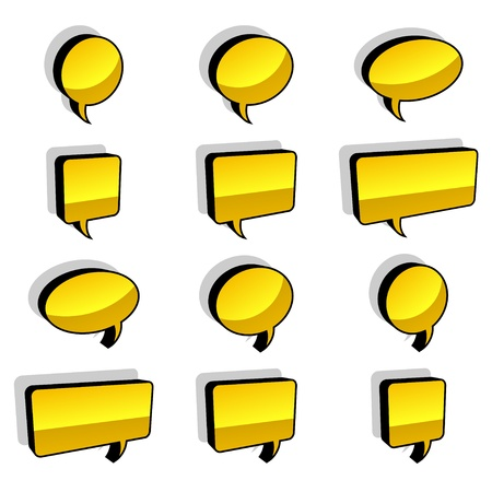 babble: vector 3d shiny speech bubbles Illustration