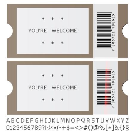 admission: vector modern tickets Illustration
