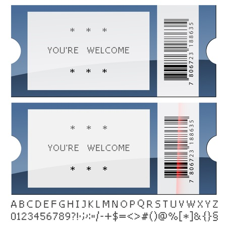 passes: vector modern shiny tickets