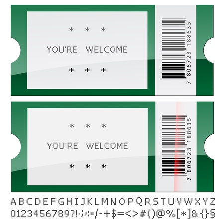 ean: vector modern shiny tickets