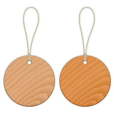 vector wooden tags Stock Vector - 11504805