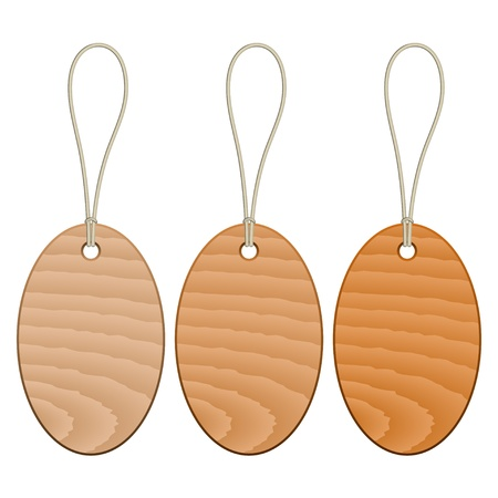vector wooden tags Vector