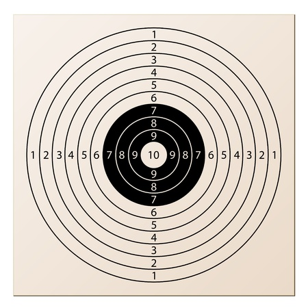 bullet icon: vector paper rifle target