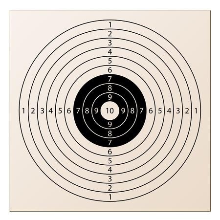 doelstelling: vector papier geweer doel Stock Illustratie