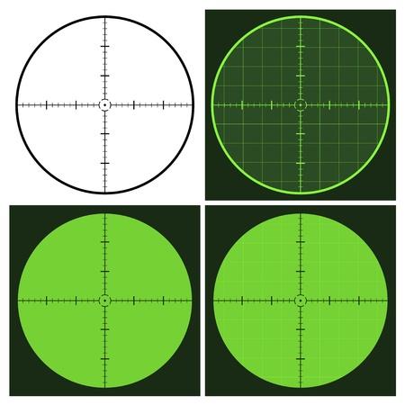 vector de la pistola en forma de cruz vista