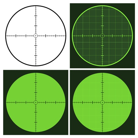 gun sight: vector gun crosshair sight