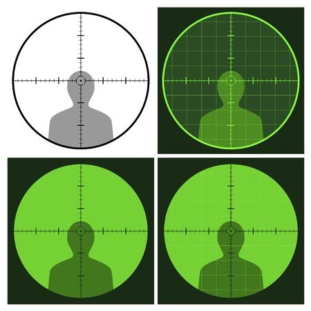 bullseye: Vektor-Pistole Fadenkreuz Blick Illustration